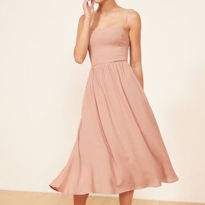 Reformation Rosehip Dress in Champagne